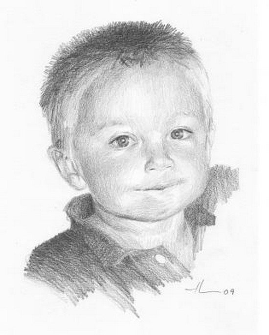 Смешной мальчик рисунок карандашом, нарисовать дню