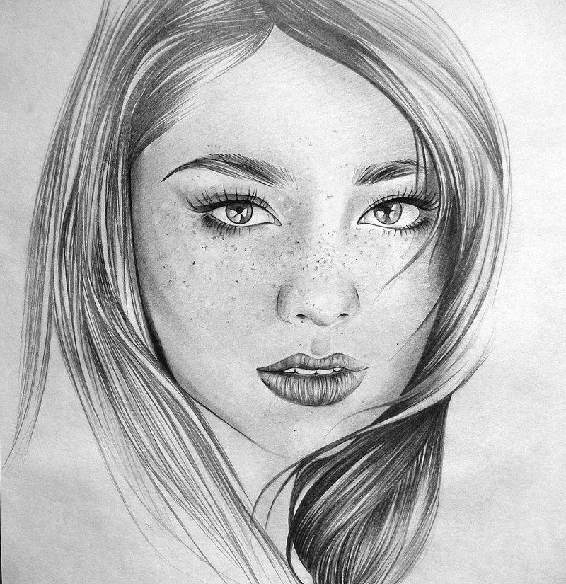 Картинки в карандаше девушки