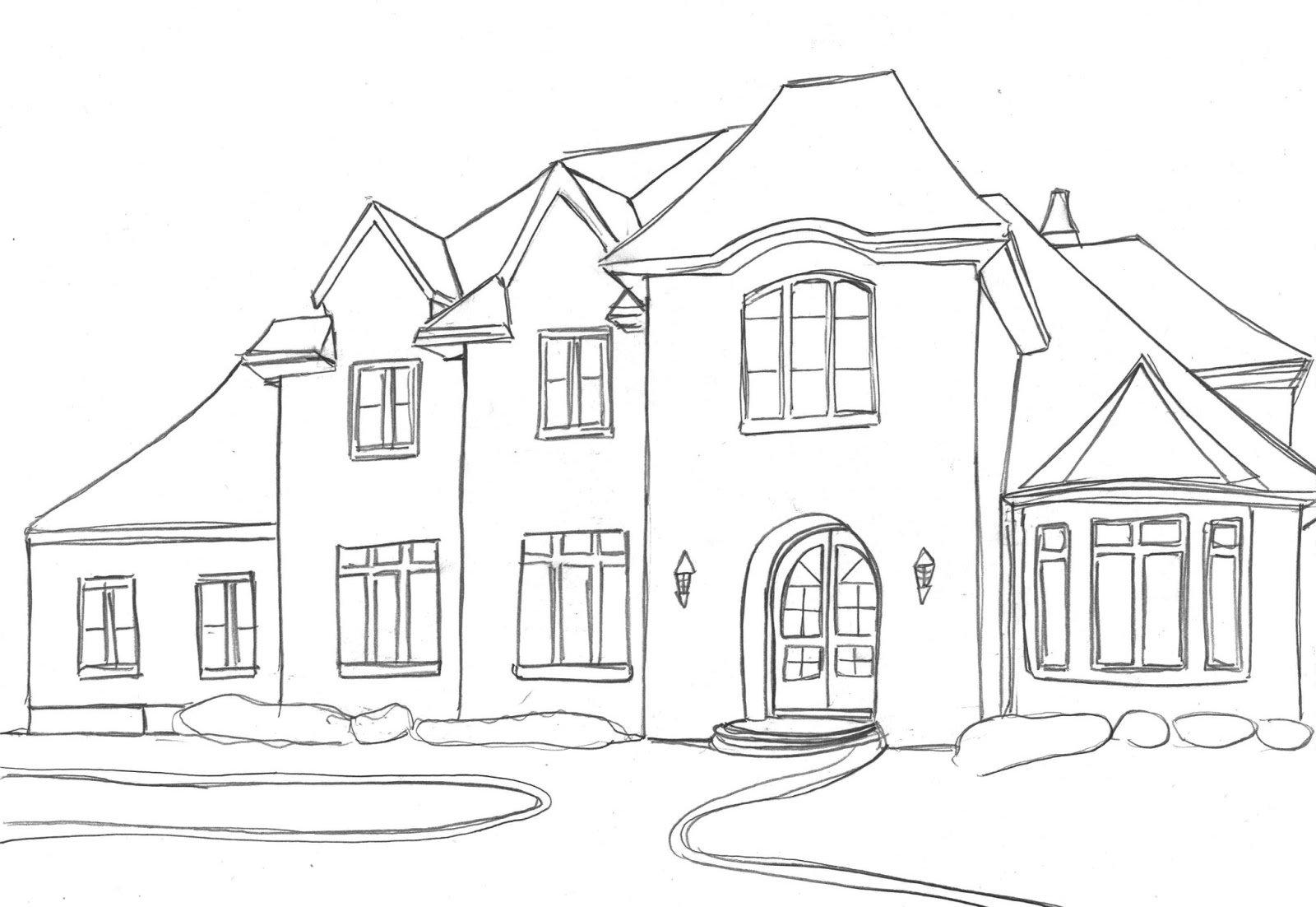 Картинки карандашом домики