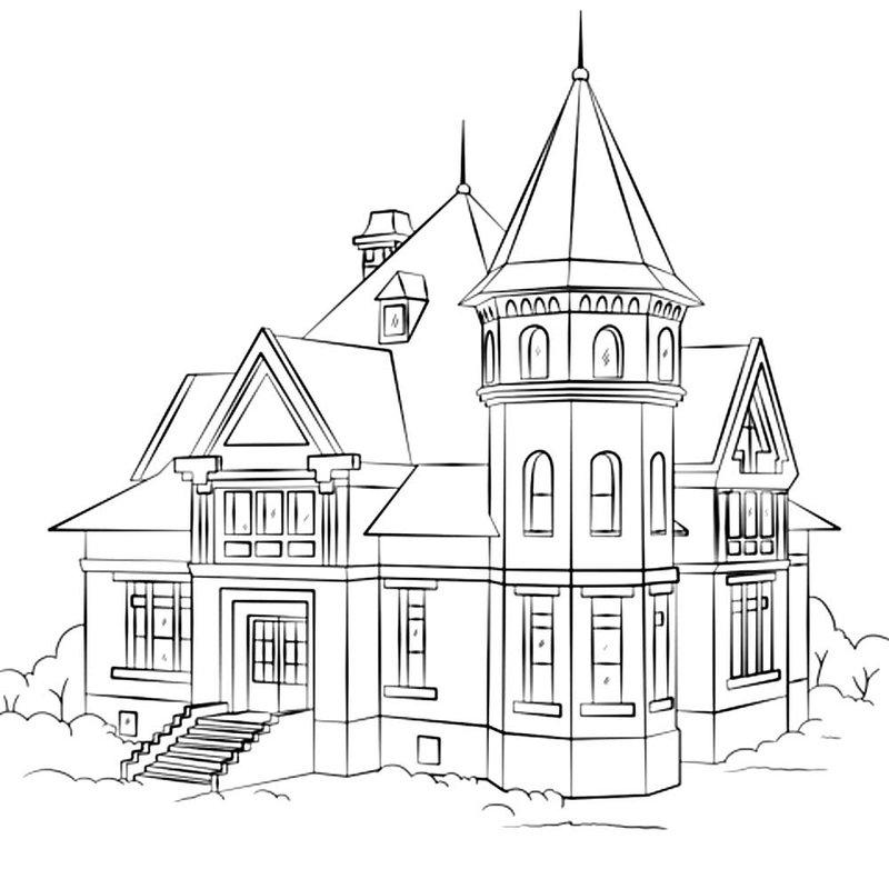 наши картинки как нарисовать большой дом новом сезоне
