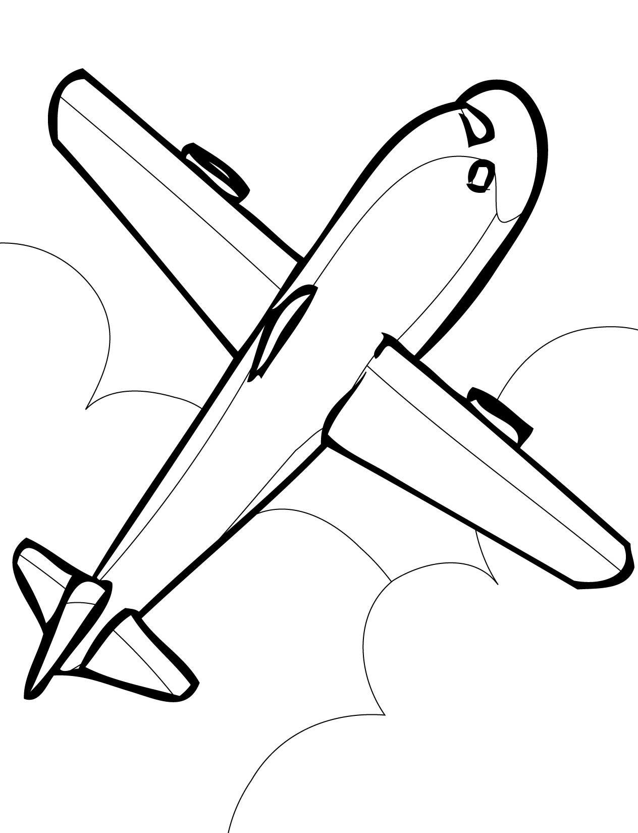 Картинки с самолетом нарисованные