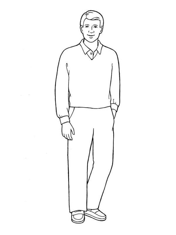 Рисунок карандашом: человек в полный рост