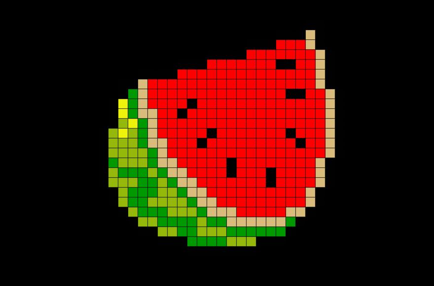 Классные картинки по клеточкам еда