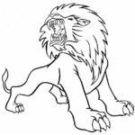 Лев — карандашом рисунок