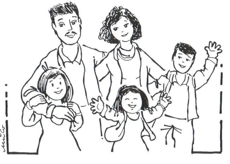 Рисунок карандашом: семья