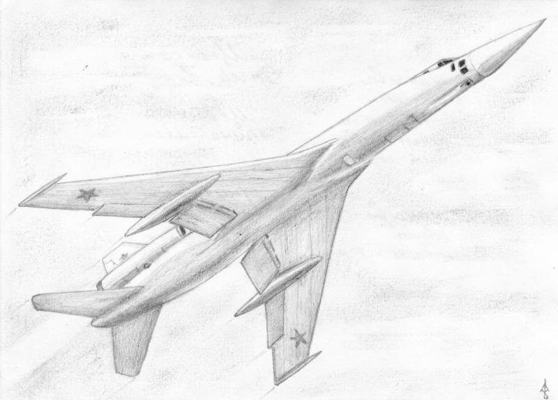 Картинки самолета простым карандашом
