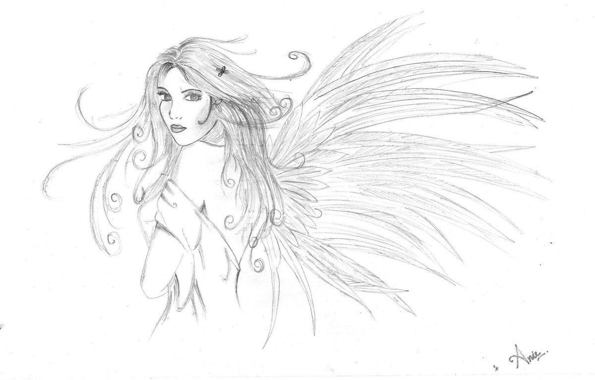 для картинки или рисунки ангелов карандашом подлет, которые