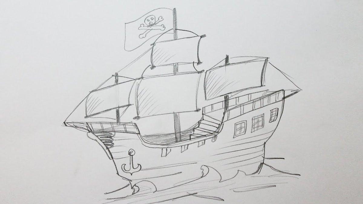 Корабль простой картинка