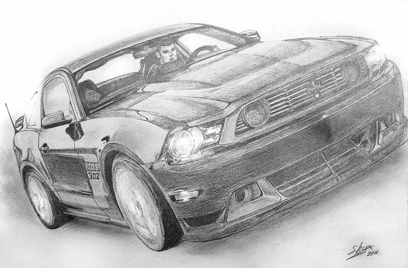 Рисунки карандашом: машины