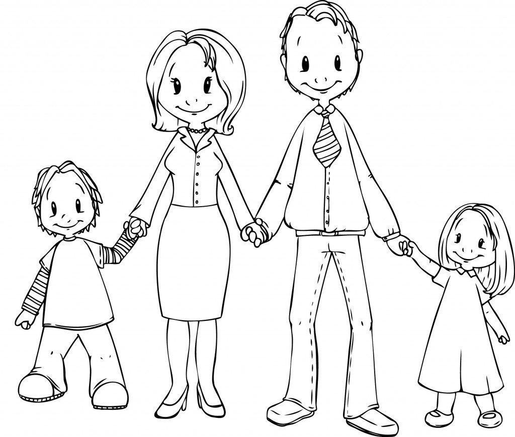 Картинки как нарисовать семью