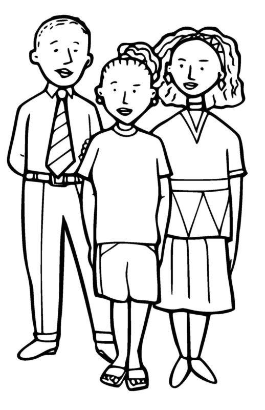 Картинки родители с детьми черно-белые, днем штурмана