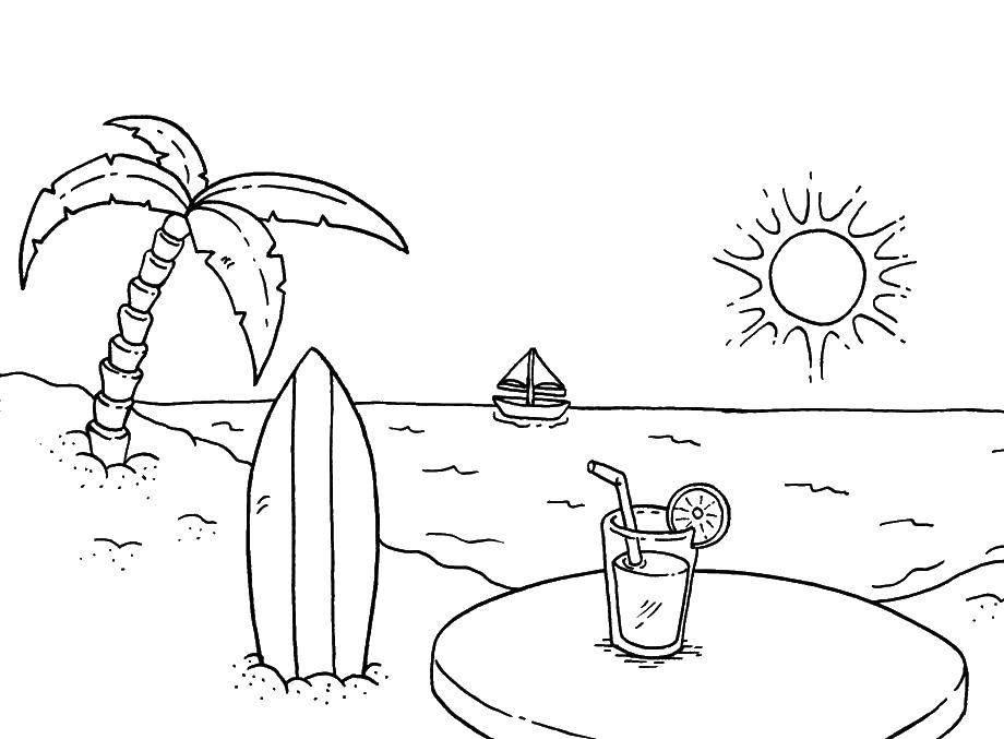 Море картинки для детей нарисованные карандашом, открытки марта