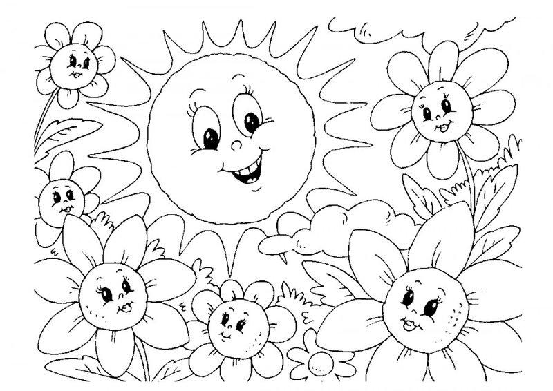 распечатать картинки про лето детям жена вызвала