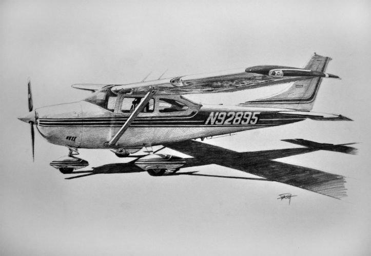 Самолет картинки карандашом рисунки