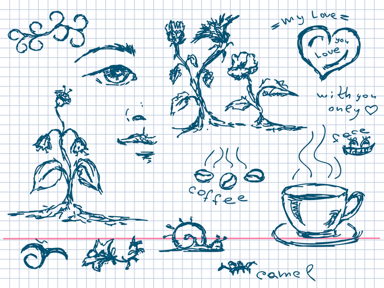 Картинки рисунки ручкой в тетради