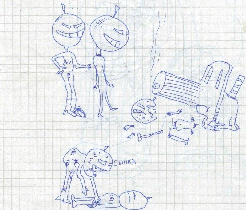 смешные рисунки ручкой фото