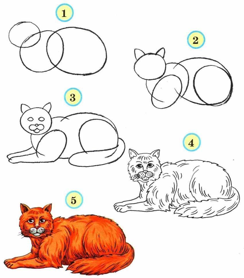 Рисовать картинки поэтапно для детей 10 лет