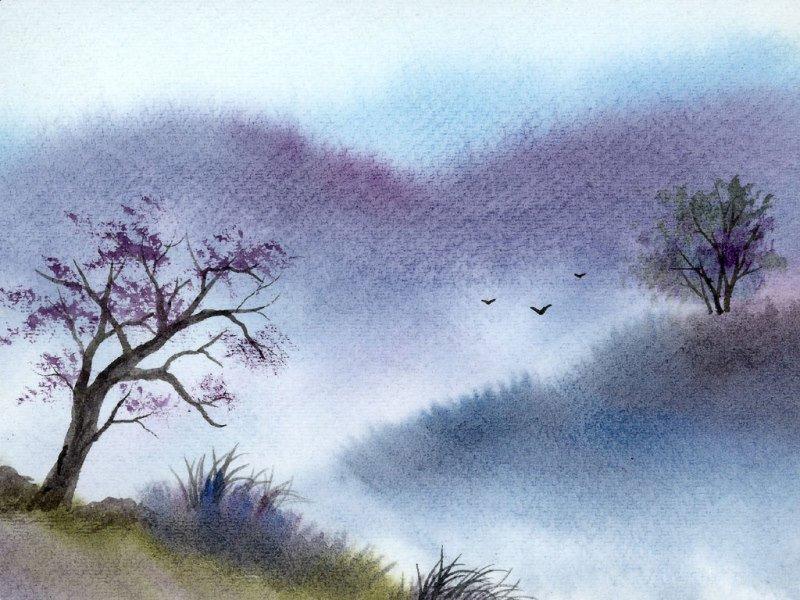 Рисунки для срисовки акварелью