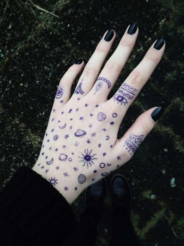 рисунки картинки на руках