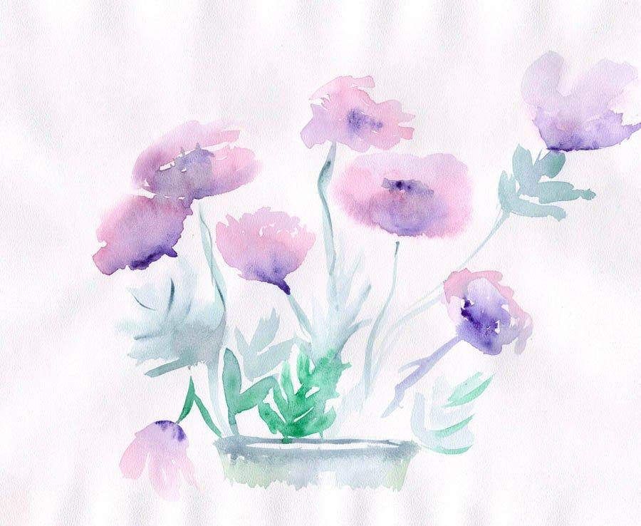 теней артефакт цветы акварелью картинки для начинающих девушки парни