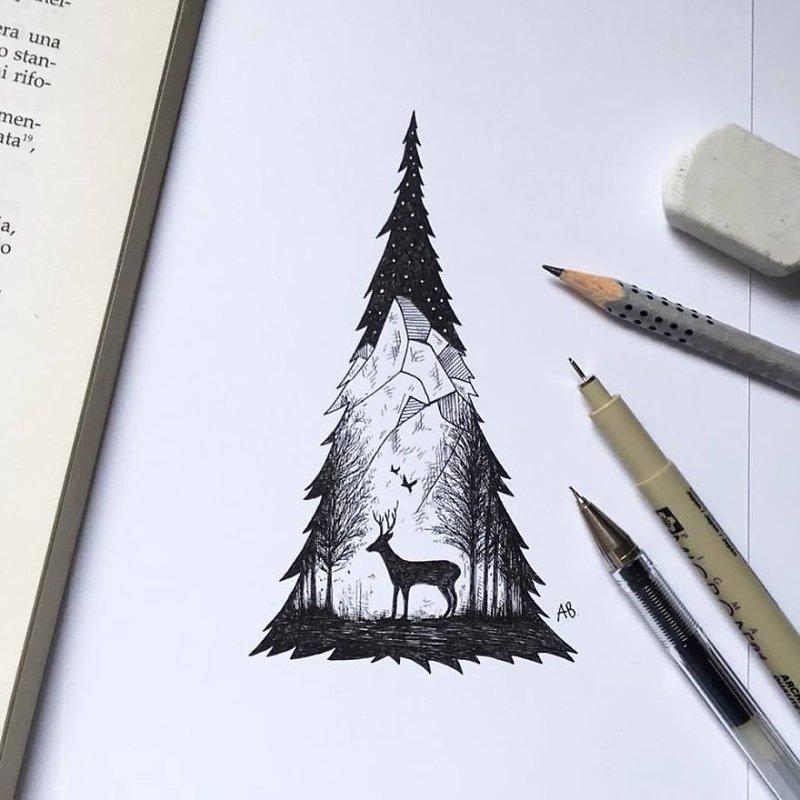 Рисунки гелевой ручкой