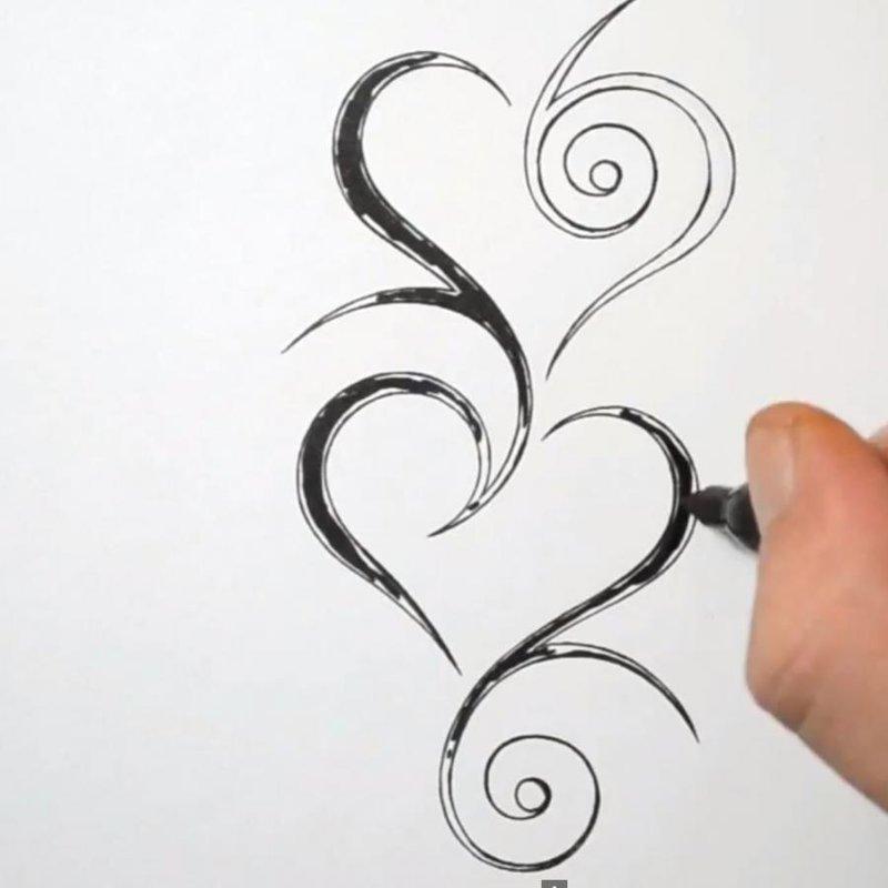 картинки как рисовать тату ручкой заключается