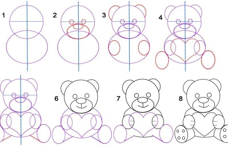 Легкие рисунки карандашом для начинающих прикольные по шагам фото, днем рождения крутому