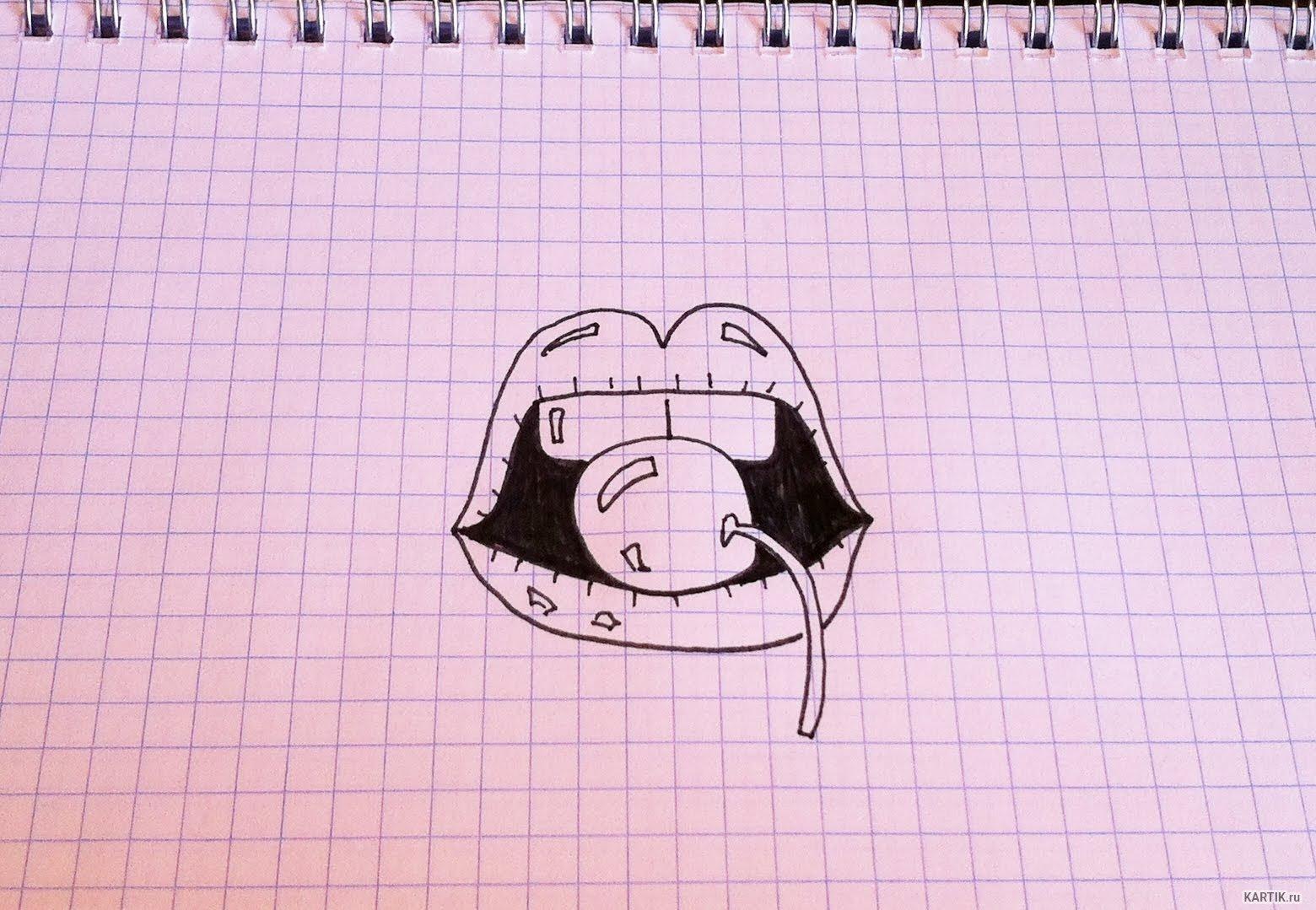 Как нарисовать прикольные рисунки с ручкой
