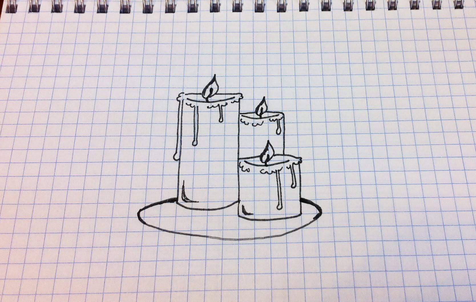 Музыкальные, легкие и красивые рисунки гелевой ручкой