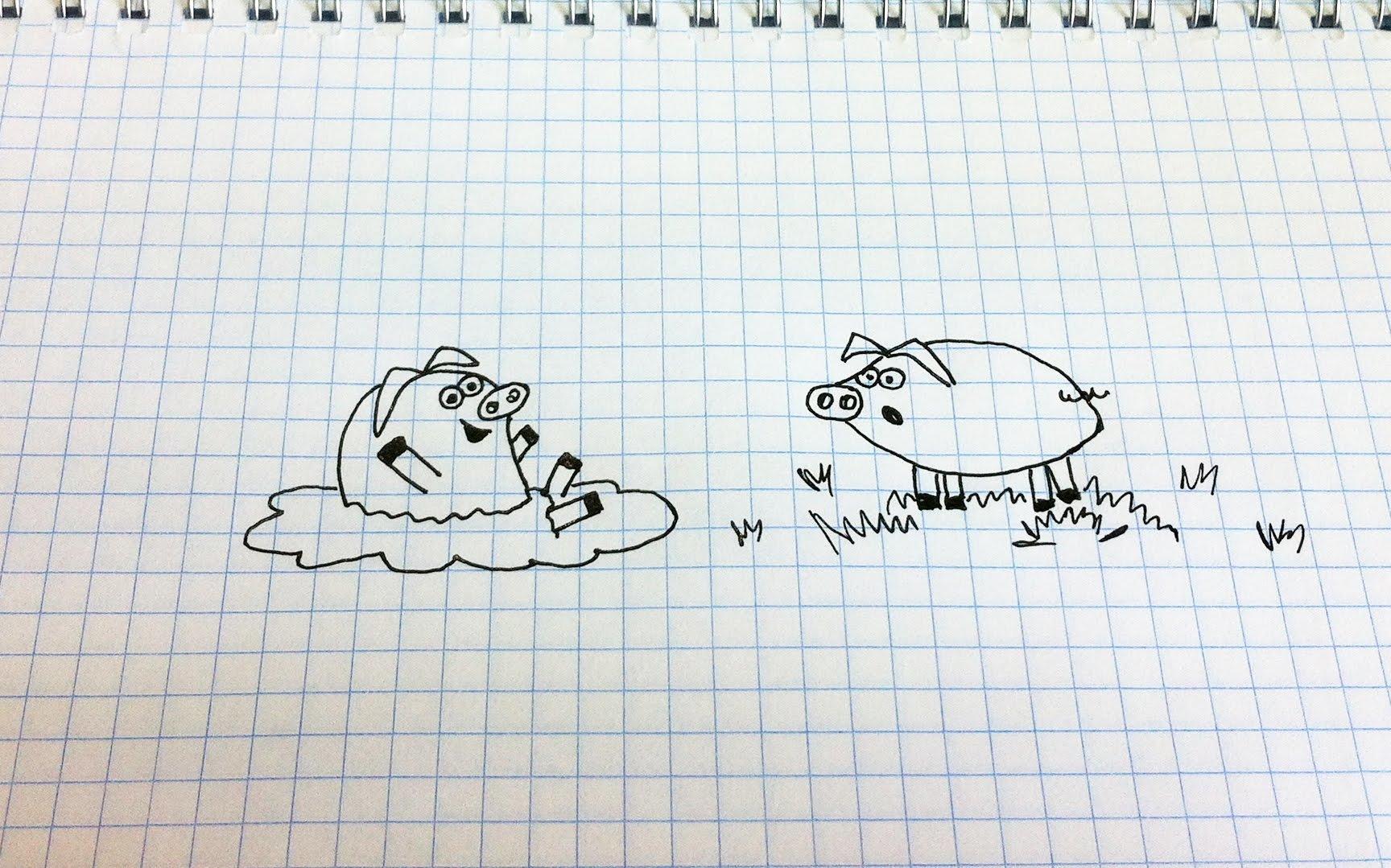 Прикольные и легкие рисунки гелевой ручкой