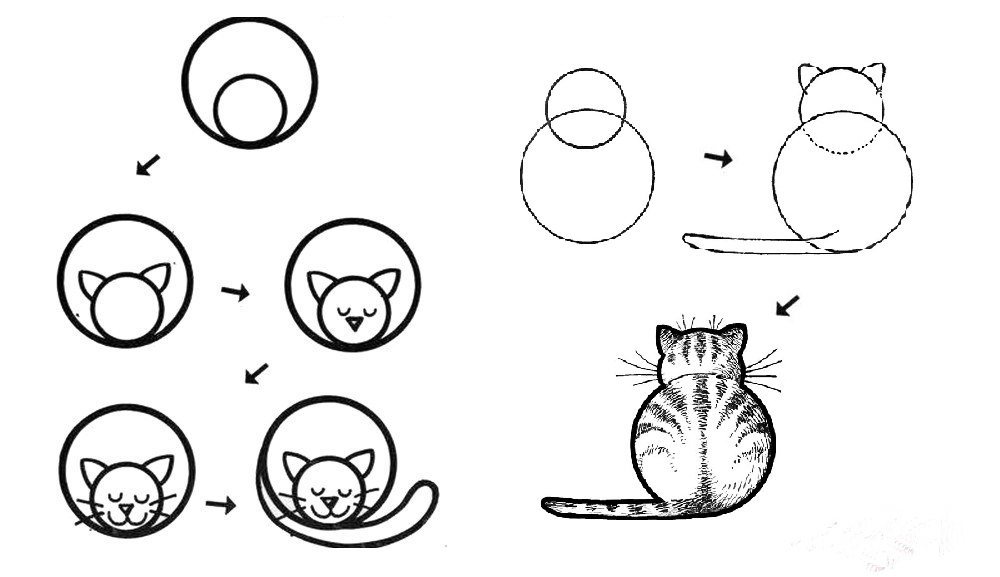 Легкие рисунки карандашом для начинающих прикольные по шагам фото