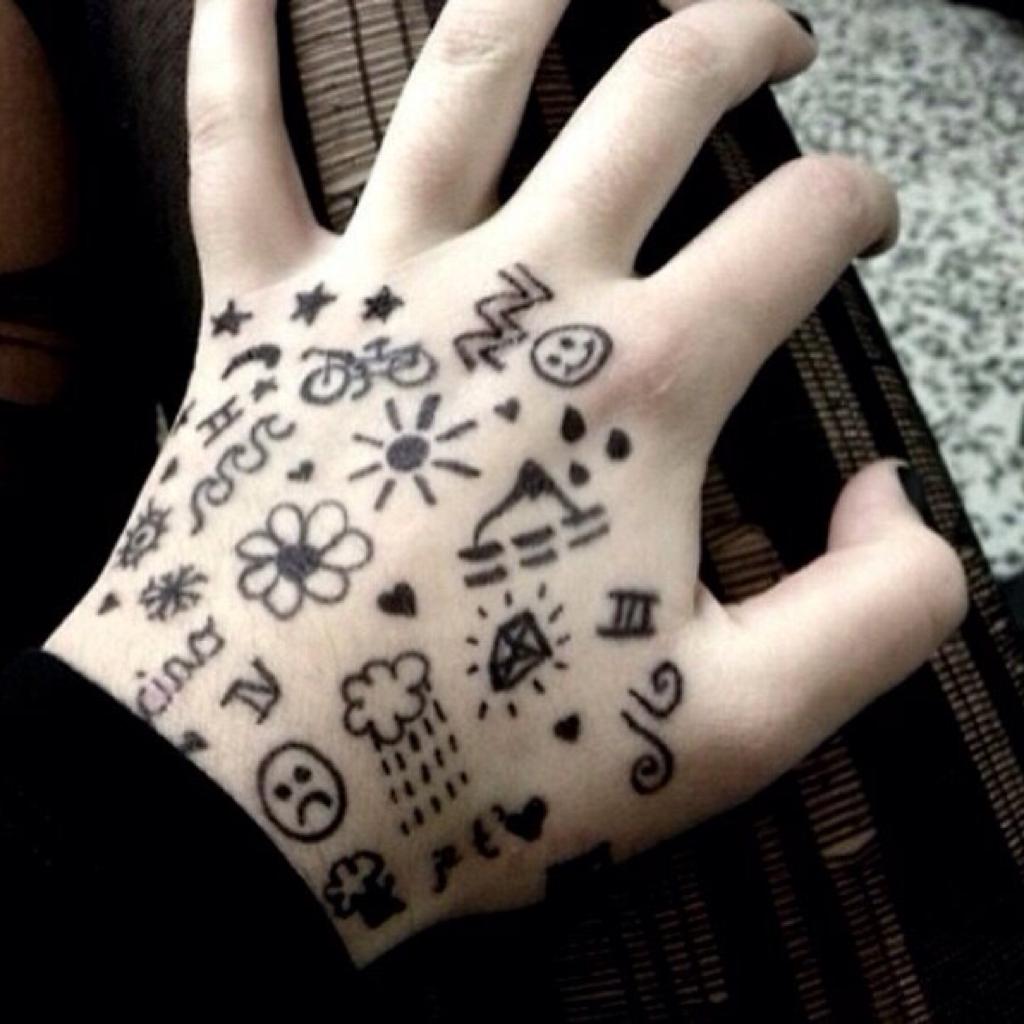 Прикольные картинки, рисунки ручкой на теле прикольные