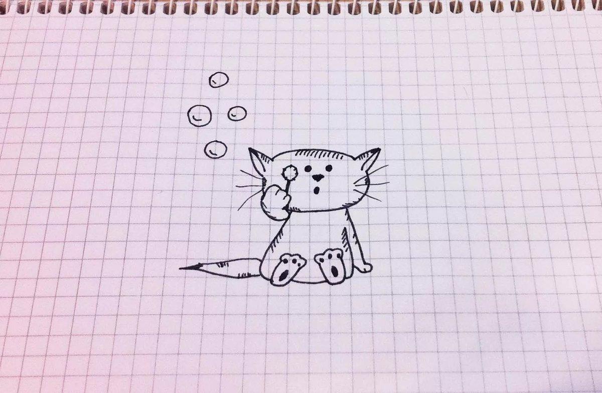 Смешные собаки, легкие и красивые рисунки гелевой ручкой