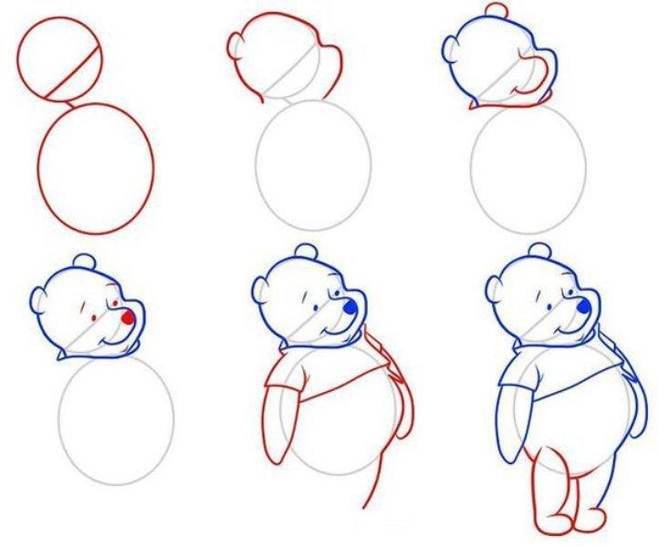 рисунки карандашом поэтапно можно