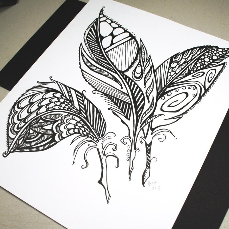 Рисунки черной ручкой для начинающих