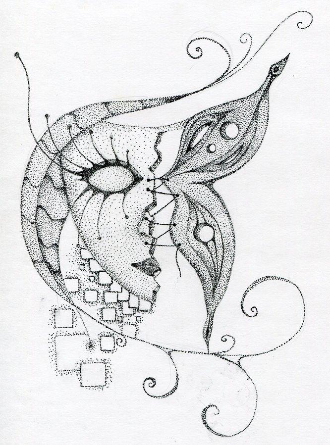 картинки для рисования черной гелевой ручкой простые образ был