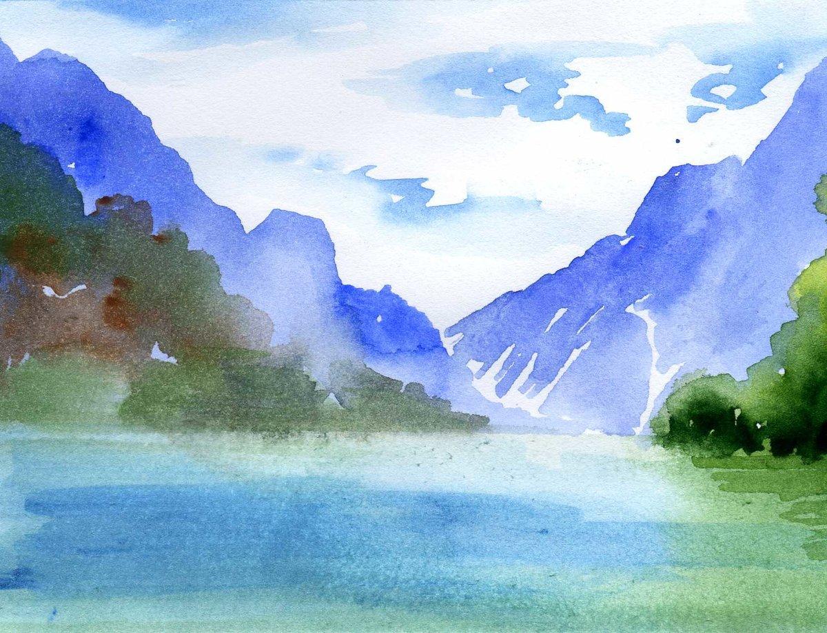 Дню учителя, картинки нарисованные акварелью пейзажи