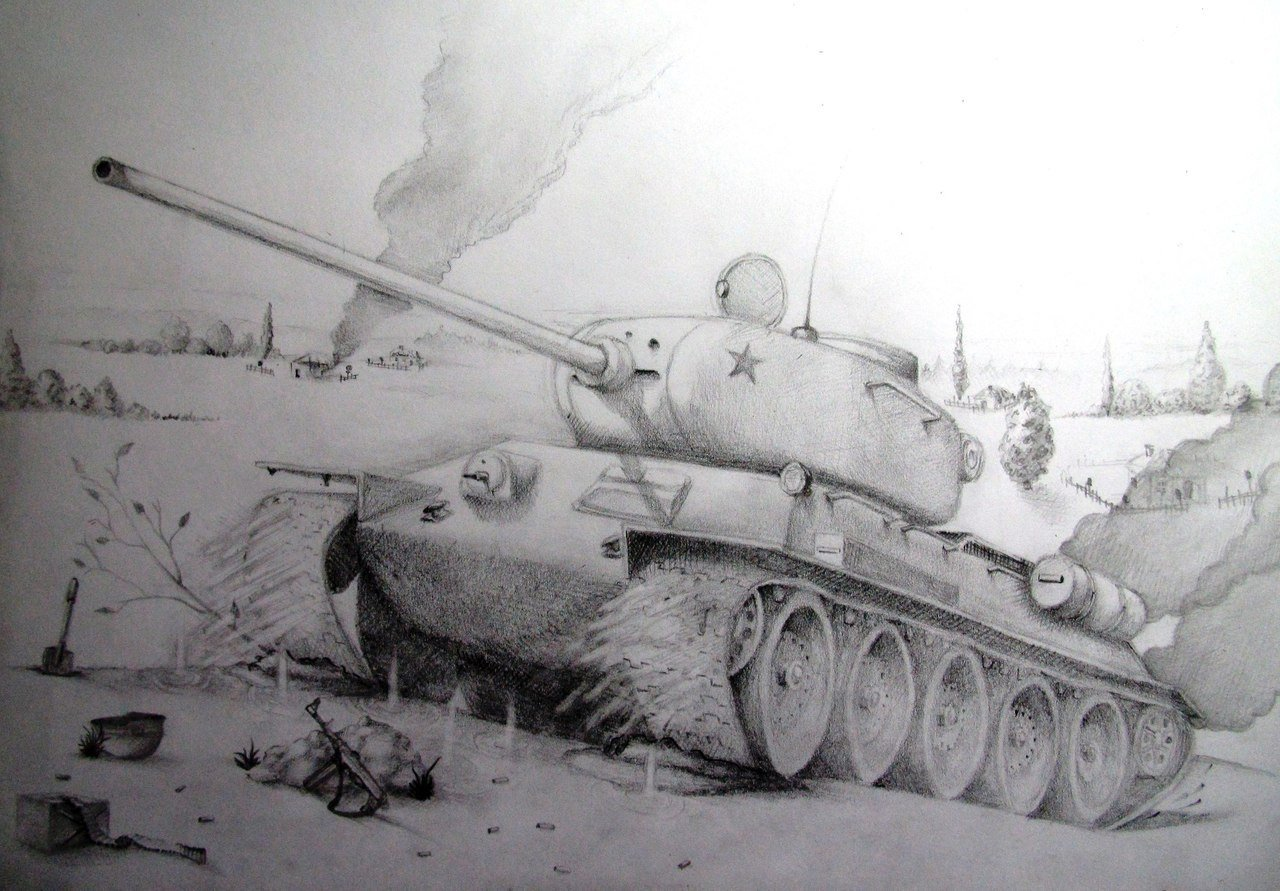 Картинки простым карандашом войны