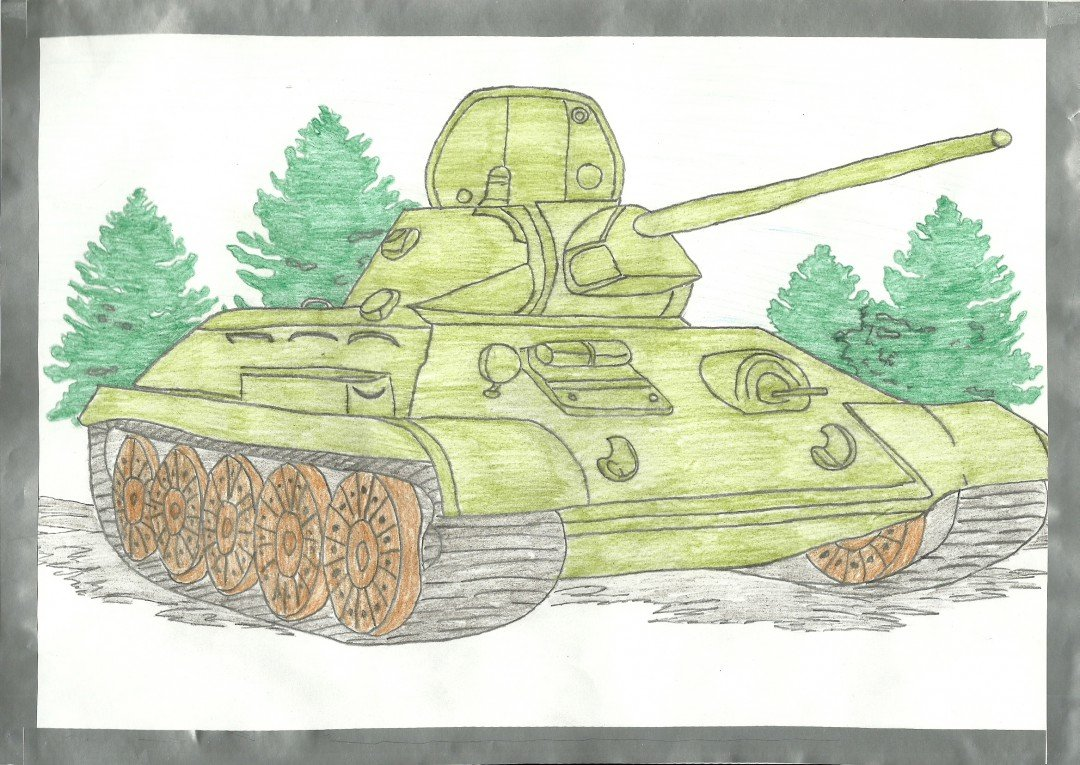 Открытки хорошим, 23 февраля картинки нарисовать танк