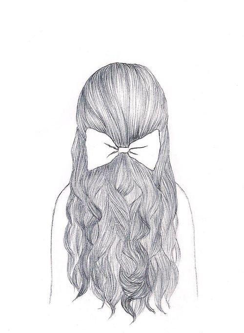 Волосы рисунок карандашом