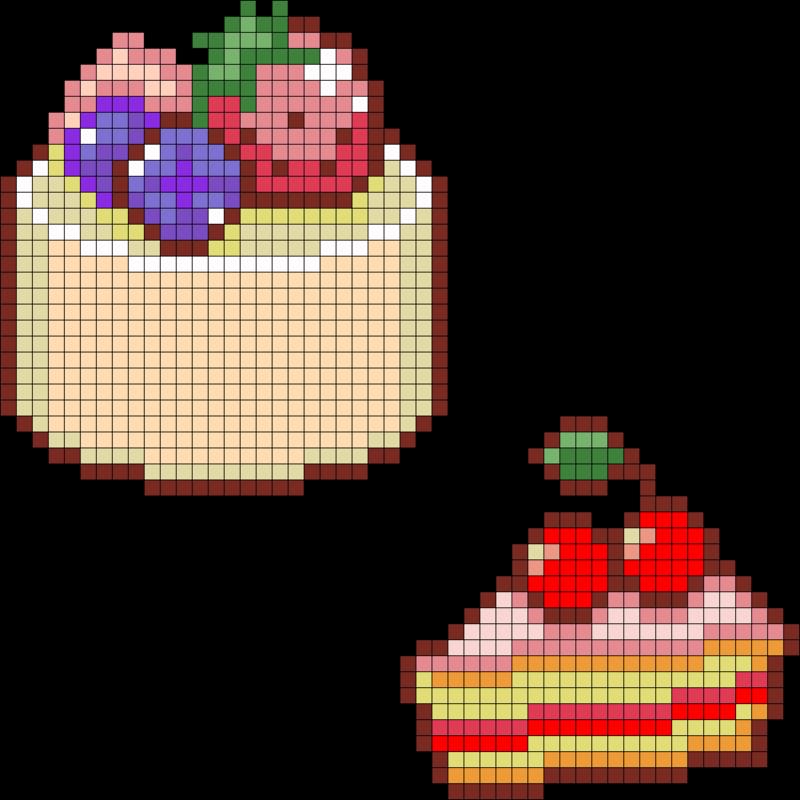 Картинки по клеточкам кекс