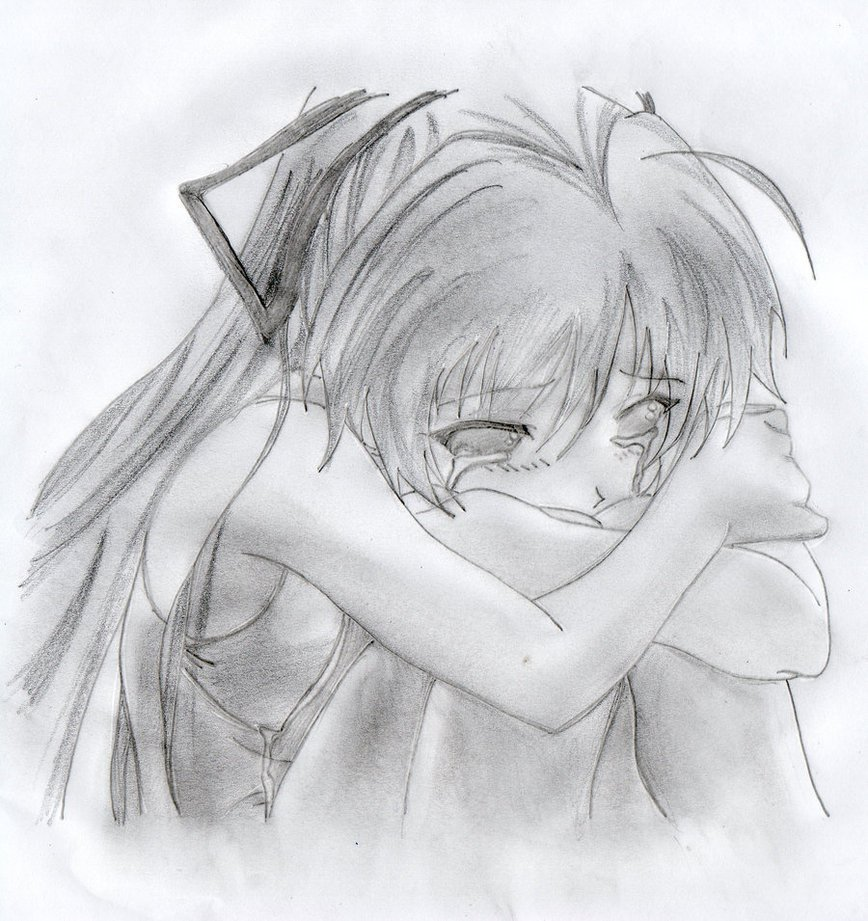 Картинки простым карандашом аниме про любовь