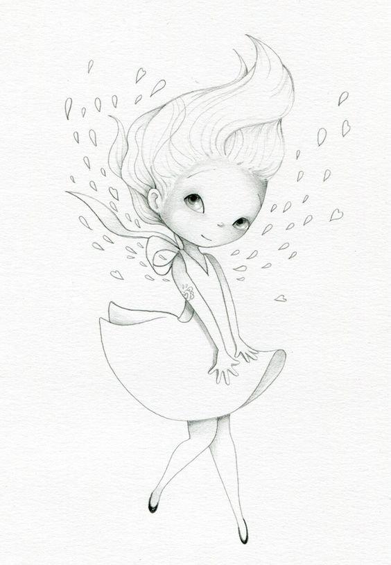 Картинки карандашом легкие и красивые прикольные для девочек