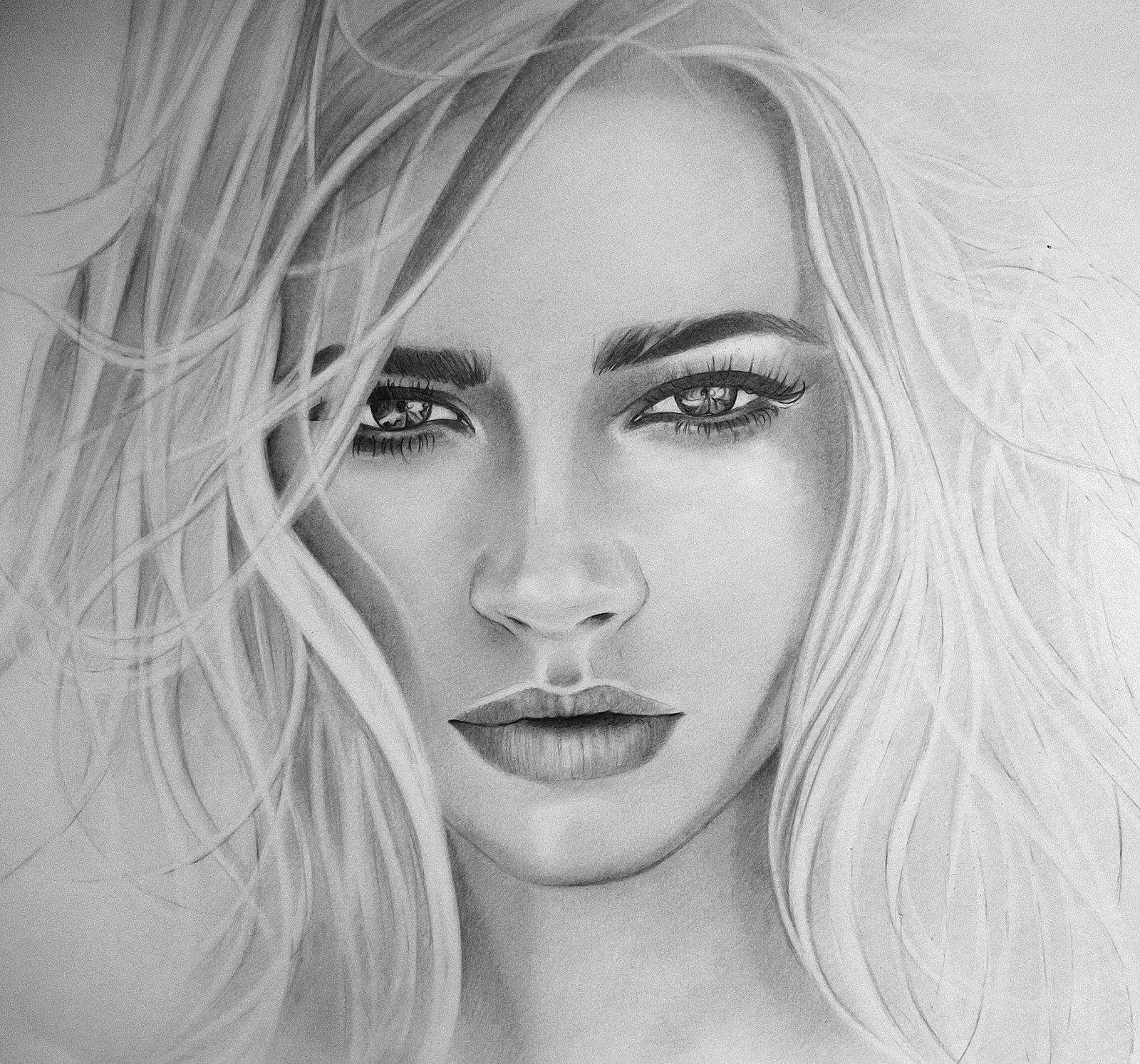 Рисование простым карандашом девушки картинки