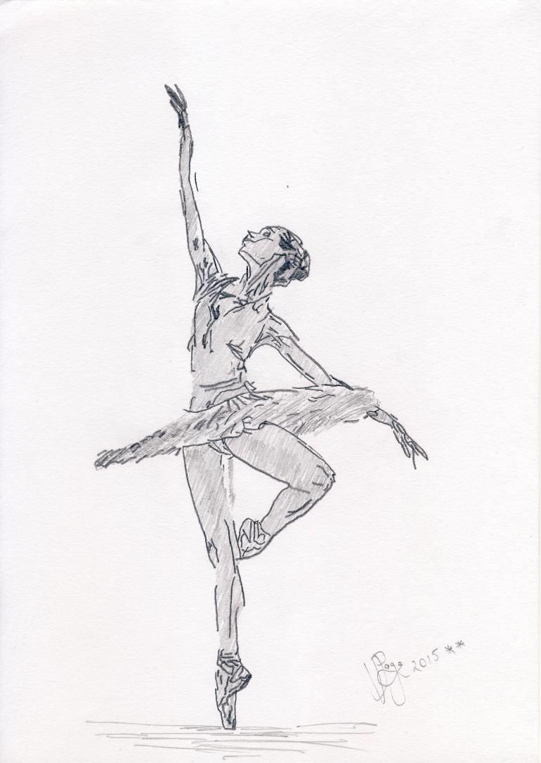 рисунок танцора в движении комфортабельный