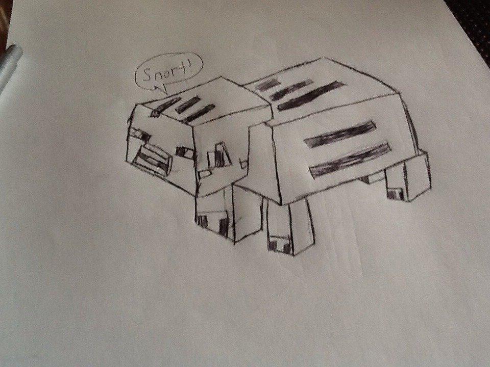 Маме, прикольные рисунки карандашом из майнкрафта