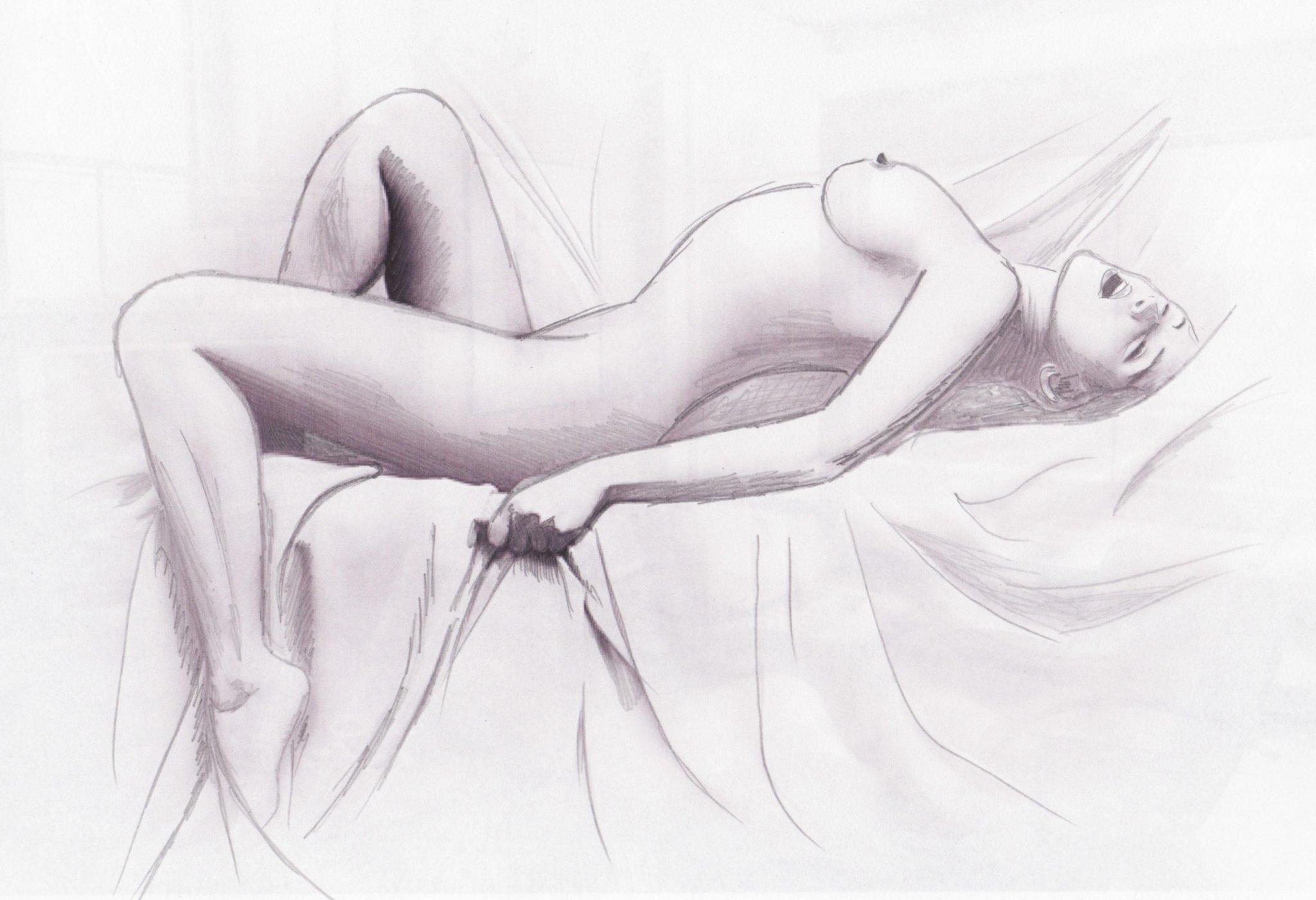 другому голые девушки карандашом письки