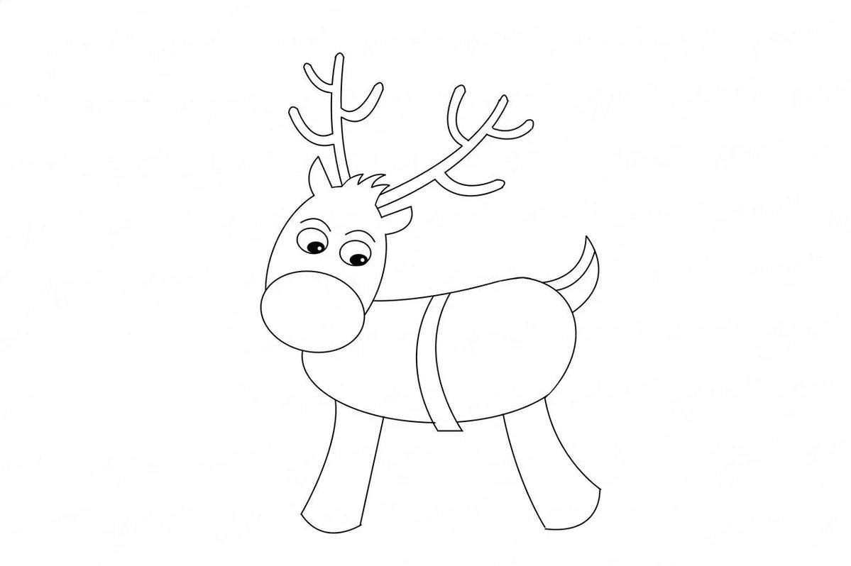 олени рисунок карандашом на новый год отряда имеют одну