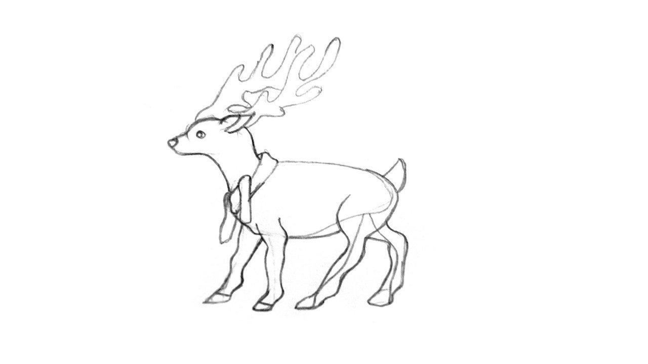 большие северный олень как нарисовать картинки тем