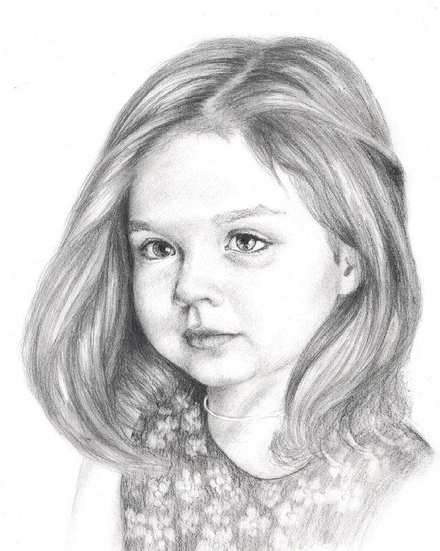 Рисунок девочки карандашом